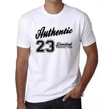 23 Authentic Tshirt, Col Rond Homme T-shirt, couleur Blanc, Cadeau Tshirt