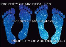 VRS Footprint Foot Print Stick People 2 Pair Daughter Mom Dad Son Metal Decal