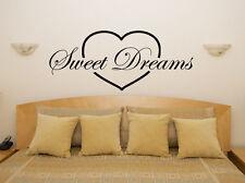 Sweet Deams In A Heart Nursery Children's Bedroom Decal Wall Sticker Picture