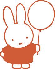 Finestra di visualizzazione Muro Miffy Coniglietto Palloncino Silhouette Adesivo Decalcomania In Vinile