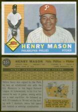 (10390) 1960 Topps 331 Henry Mason Phillies-EM