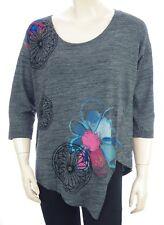 DESIGUAL TS ELQUI tee shirt gris femme 17WWTKJ1 coloris 2042 Gris Vigore