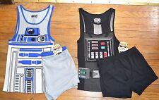 STAR WARS 2 piezas Joven Hombre Pijama Set Camiseta Tirantes Top y shorts DARTH