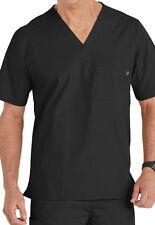 WonderWink Medical Scrubs Men's Black Utility 5 Pocket Top Sz S-XXL NWT