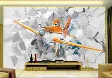3D Cartoon Aircraft Block 475 Wall Paper Wall Print Decal Wall Deco AJ WALLPAPER