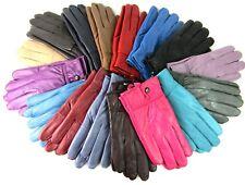 NOUVEAU pour Femmes super doux Véritable Cuir entièrement doublé gants