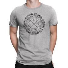 Vegvisir Compass Symbol Mens Viking T-Shirt Icelandic Rune Nordic Norse Gift Top