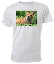 Fox T shirt, Safe at last!, WILDLIFE - Choice of size & colour!