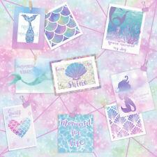 Mermaid Theme Glitter Wallpaper Pink Blue Silver Purple Holden 12790