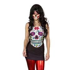 Sexy Sugar Skull vestido la Catrina Stretch minivestido dia de lote Lendakaris