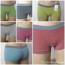 4er Pack Panties Hipster Damenslips sexy underwear Streifen Mikrofaser Boxer