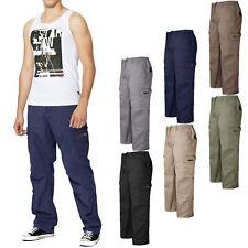 Da Uomo Vita Elasticizzata Pantaloni Cargo Combat Pantaloni Lavoro Casual Rugby Bottoms 6XL