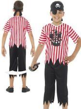 Boys Jolly Pirate Costume Child Caribbean Buccaneer Fancy Dress Book Week Age 4