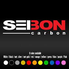 "6"" Seibon Carbon JDM Diecut Bumper Car Window Vinyl Decal sticker"
