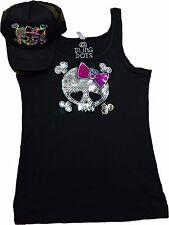 Bling Skull Tank top and Cap Combo SPECIAL no Rhinestones sequins Shirt