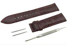 Dark BROWN Genuine Leather Strap/Band fit TISSOT Watch Clasp 18 19 20 21 22mm