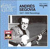 Andr's Segovia: 1927-1939 Recordings, Vol. 2 (CD, Jul-1988, Warner Classics (USA