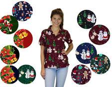 Funky Hawaiibluse Weihnachten Designs verschiedene Farben Hawaiihemd