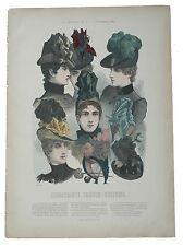 Runder hut Bolero Capote Illustrirte Frauen Zeitung moda hats Cappelli
