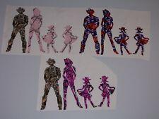 Cowboy Girl Happy Family Decal set Mom Dad 2 GIRLS Muddy Window Decals Sticker