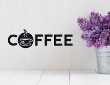 Wandaufkleber: Coffee - Wandbild Küche Kaffee Tasse Kaffeetasse Cafe WandTattoo