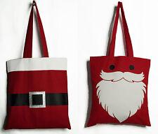 Santa Christmas shopping tote bag x'mas Favour Christmas party gift bags