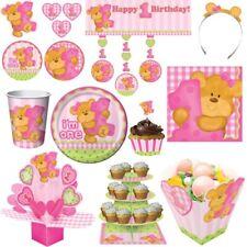 1. Geburtstag Party Teddy Bär Mädchen Kindergeburtstag Set Kinderparty Deko rosa
