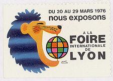ERINNOPHILIE VIGNETTE FOIRE DE LYON 1976
