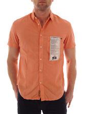 Freesoul Hemd Drew orange vintage Kurzarmhemd Knopfleiste Regular fit