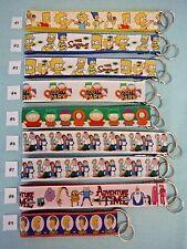 Key Chains Key Fobs -- Simpsons, South Park, Family Guy, Adventure Time, Beavis