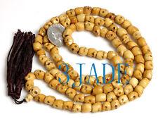 "37"" Tibetan Carved 108 Bone Skull Prayer Beads Mala Buddhist Mantra Meditation"