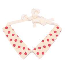 7736W collo bimba Simonetta ivory/red paillettes/cotton collar girl