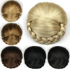 Women Chignon Braided Big Hair Bun Chignon Clip In Hairpieces Extension