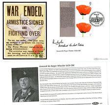 2008 LEST WE FORGET SIGNED GENERAL SIR ROGER WHEELER BENHAM FIRST DAY COVER SHS