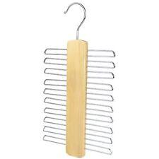 The Hanger Store™ 20 Bar Wooden Tie Hanger - Belt & Tie Rack Storage Organiser