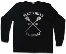 BEACON HILLS LACROSSE LANGARM T-SHIRT Teen Logo Wolf Team High School Trikot