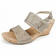 White Mountain Womens Alexus Fabric Open Toe Casual Platform Sandals