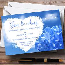 Pretty blu cielo Fiore personalizzato wedding invitations