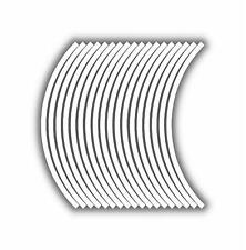 9mm cerchione nastro striatura strisce adesivi BIANCO 38 pezzi/9 per ruota)