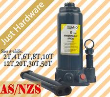 AS/NZS 2 4 6 8 10 12 20 30 50 TON Hydraulic Bottle Jack Car Truck Caravan NEW