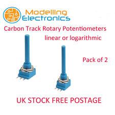 2 piezas de carbono pista potenciómetros lineales y registro de valores Giratorio 470R - 10K