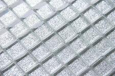 Gliter Silver Glass Mosaic Tile ( SAMPLE )