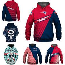 New England Patriots Hoodies 3D Printed Sweatshirt Football Hooded Pullover Coat
