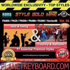 97 STYLES SwingJazz &CountryBallRoom Korg PA800 PA2X PA500 PA588 PA300 Havian30