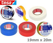 19 Mm x 20 M Tesa Cinta Aislante Eléctrico PVC Cable 6 Colores