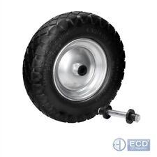 "15"" Wheelbarrow wheel set 1 2 4pc puncture proof black full rubber 4.80/4 4.00-8"