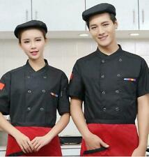 Men Women Chef Uniform Hotel Kitchen Food Services Short Sleeve Chef Jacket Coat