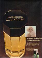 PUBLICITE  1970   LANVIN   parfum MONSIEUR