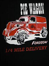 Mens T Shirt Ford Fordson Van Pie Wagon Anglia Gasser Hot Rod Drag Race
