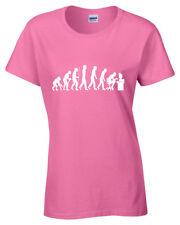 EVOLUTION OF GEEK T Shirt Funny Nerd Science Gamer Theory Ladies Womens tee top